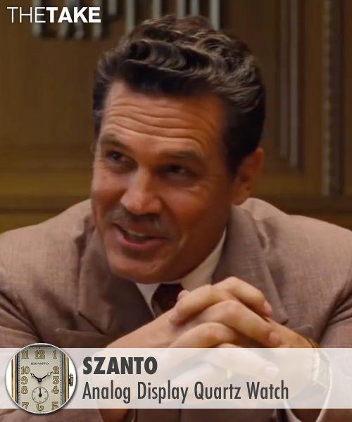 Szanto Analog Display Quartz Watch inspired by Eddie Mannix in Hail, Caesar! | TheTake