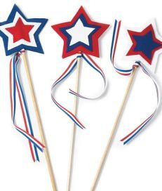 Labour day craft star spangled wavers made out of felt