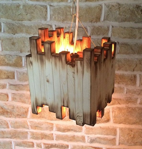 Just Reduced Rustic Handmade 3 Bulb Hanging Light Fixture Or: Top 25 Ideas About Wooden Lamp On Pinterest
