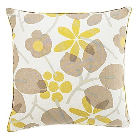 Flower Pillow in Beige