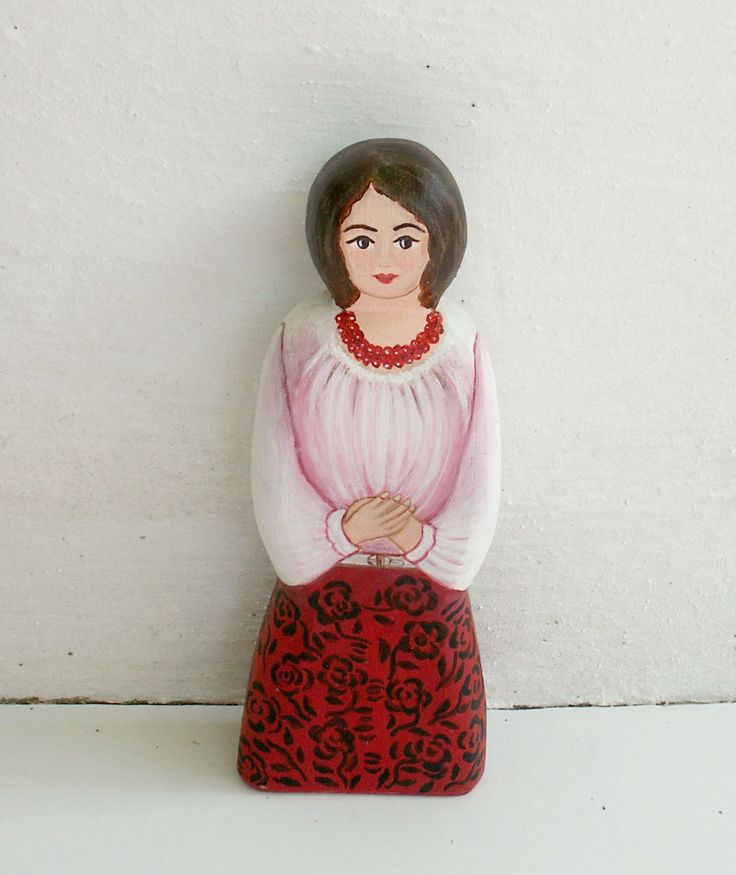 Female figure modern red wear