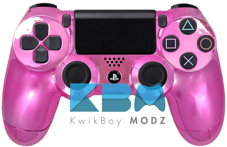 Chrome Pink Custom PS4 Controller   Pink, PS4 and Ps4 ...