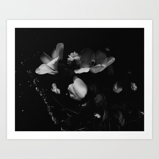 Dramatic Florals for beautiful home decor, especially like the cherry blossom, tulips in black and white.