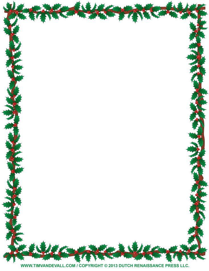 free christmas borders to print | christmas-clipart-borders-Holly-Border.jpg