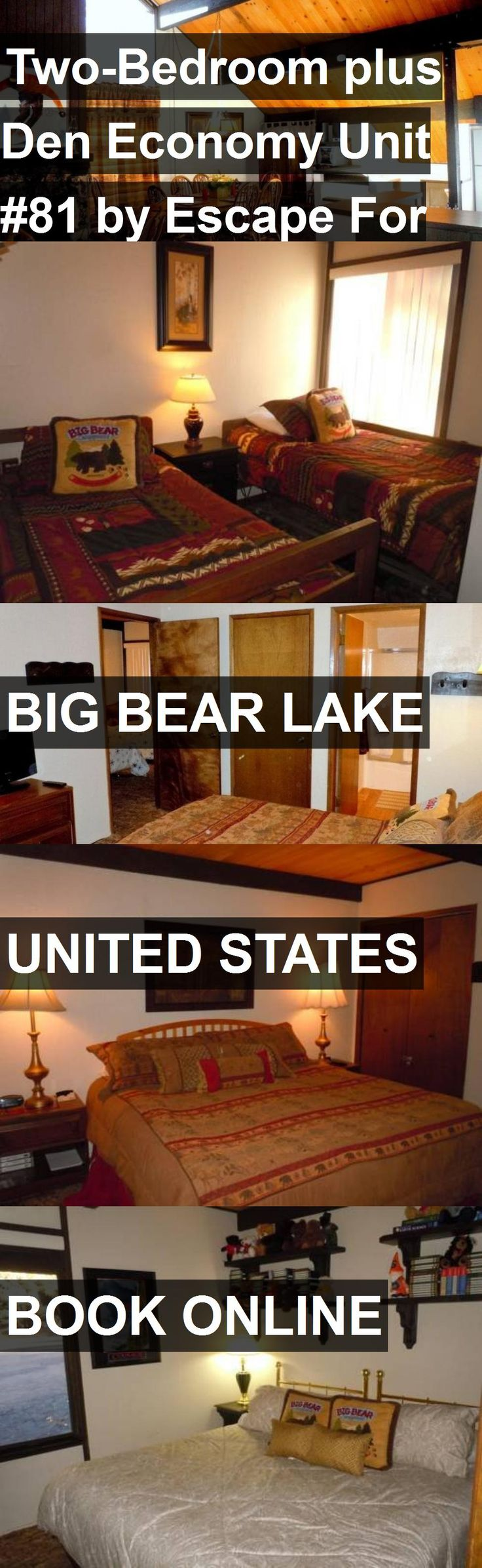 Hotel Two-Bedroom plus Den Economy Unit #81 by Escape For All Seasons in Big Bear Lake, United States. For more information, photos, reviews and best prices please follow the link. #UnitedStates #BigBearLake #travel #vacation #hotel