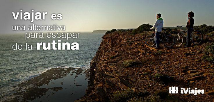 Viajar es un motivo mas para desprenderse de lo cotidiano #Frase #Viaje #Rutina #Escapar #iviajes #telcel #vacaciones #mexico