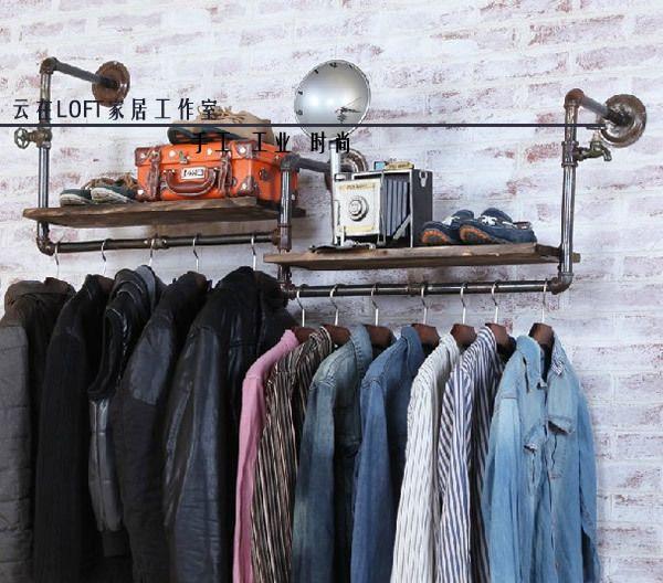 Pas cher Étagères Etagères murales de tuyaux de plomberie vintage sur la chaussure de étagères à chaussures racks LOFT industrielle américaine, Acheter Cornières de qualité directement des fournisseurs de Chine: