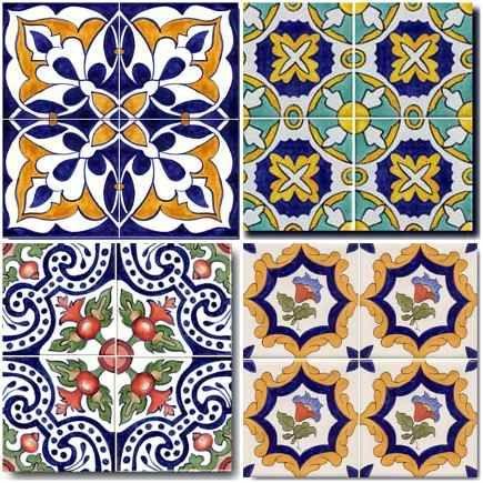 Agora, os desenhos espanhóis nos azulejos pintados à mão.