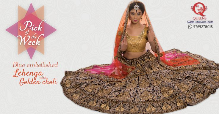 This Lehenga is sure to make you look like a million dollar bride . Explore our collection on