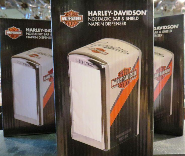 Clare's Harley-Davidson nostalgic napkin dispenser