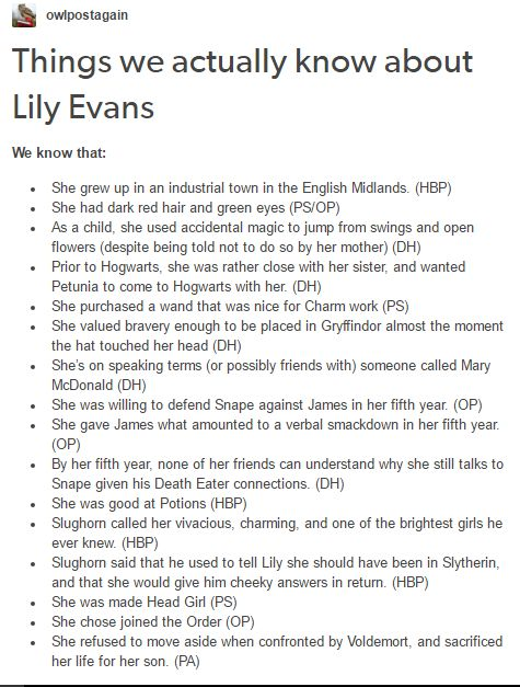 Lily Evans - Potter