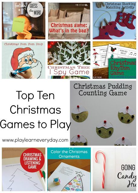 Play and Learn Everyday: Top Ten Christmas Games to Play
