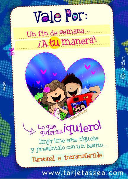 cupones de amor, Tarjeta de amor ideal para regalar a esa persona especial vía facebook, WhatsApp, instagram, email o más redes sociales