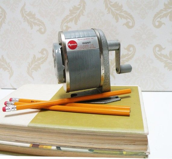 Vintage Pencil Sharpener $15.  I need to buy one. They sharpen so much better than the electric ones.