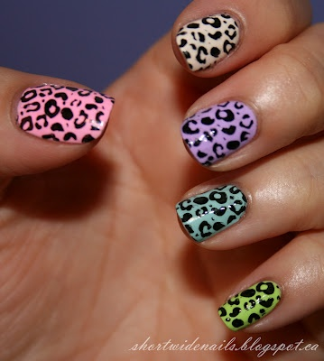 colourful leopard print