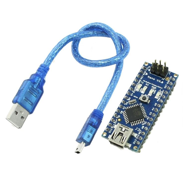 SODIAL(R) Nano V3.0 AVR ATmega328 P-20AU Carte Module Noir Bleu w USB Cable: Amazon.fr: Informatique