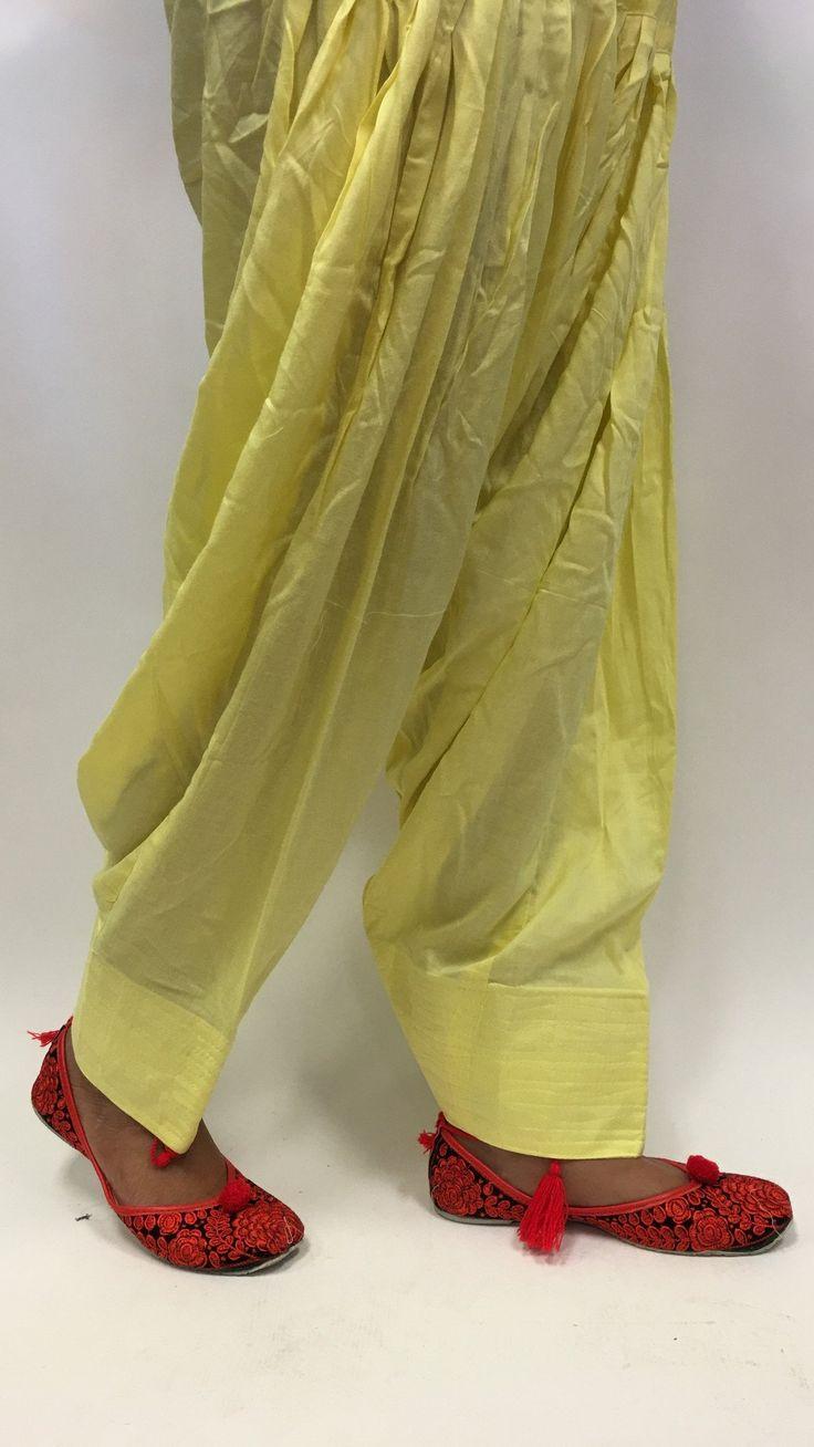 Plain Patiala - Yellow