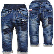 3786 bebé de las muchachas del soft jeans bebé de mezclilla rectas no se desvanecen azul marino pantalones casuales niño niños otoño primavera(China (Mainland))