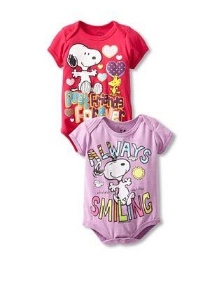 78% OFF Freeze Baby Snoopy Bodysuit Bundle (Fucshia)
