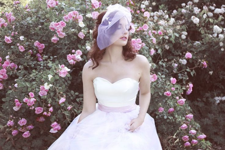 """Quirky Purple Bridal Fascinators from Madame B's Boutique. For more Alternative Wedding inspiration, check out the No Ordinary Wedding article """"20 Quirky Alternatives to the Traditional Wedding""""  http://www.noordinarywedding.com/inspiration/20-quirky-alternatives-traditional-wedding-part-4"""