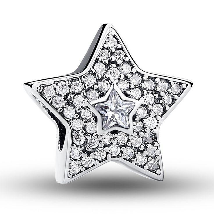 Charm : 925 Sterling Silver Wish Upon A Star Bracelet Charm #jewelry #fashion #style #charm # bracelet #silver #prom #teenfashion