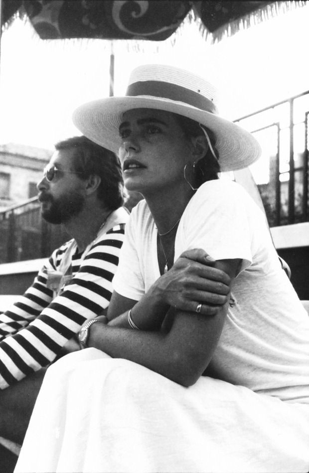 Mariel Hemingway // all-white summer look #style #fashion