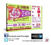 Clemson Tigers Father's Day Gifts, South Carolina Gamecocks Father's Day Gifts, Clemson Tigers football tickets, South Carolina Gamecocks football tickets, Clemson football art, South Carolina football art, Father's Day Gifts for football fans