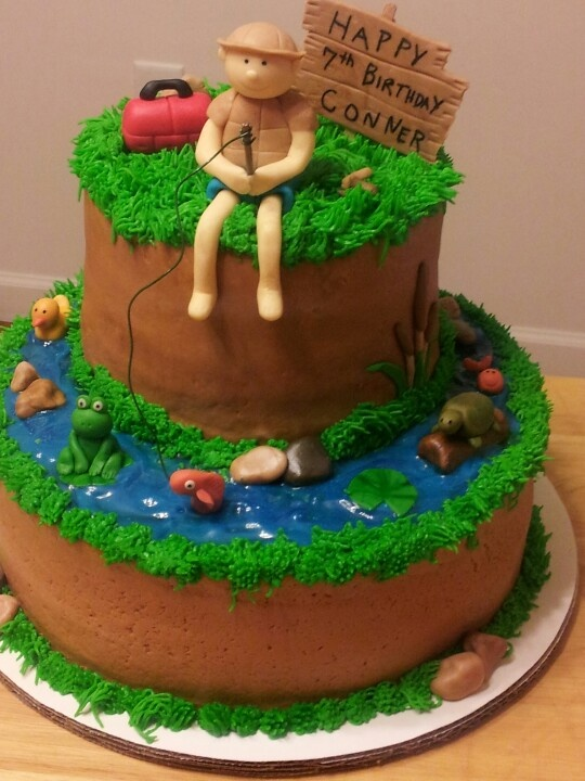 Best 25 fishing cakes ideas on pinterest fishing for Fishing cake ideas
