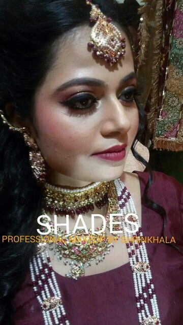 Bridal makeup#indian#muslim#maroon#jwellery#