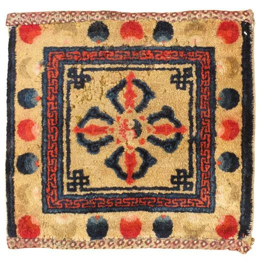 Ancient Mongolian carpet, example 1