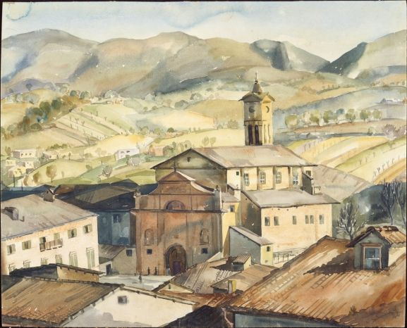 Jack Crippen, Old Church, Matelica, Italy, 1944.