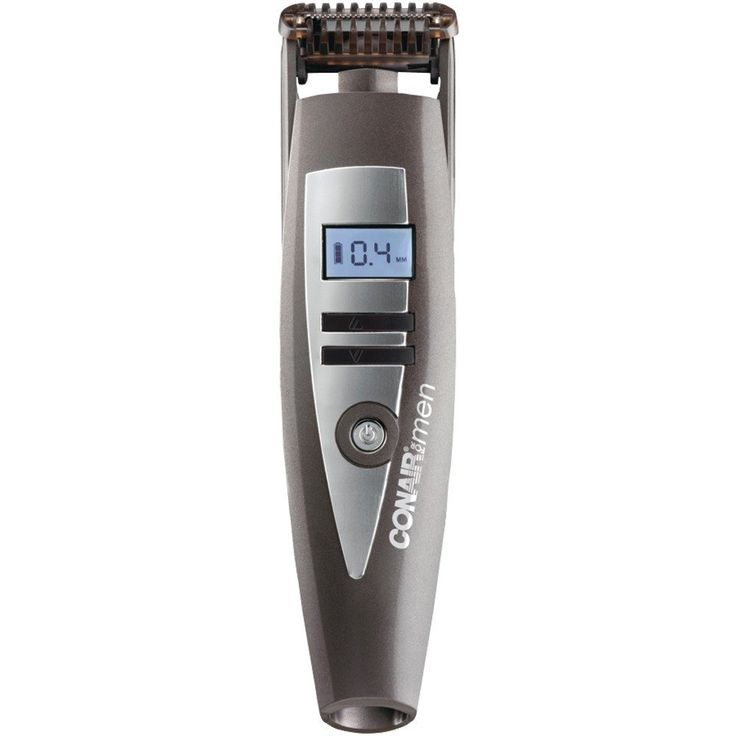 Conair I-stubble Trimmer - Unique floating contouring head Electrochemically formed blades for extreme sharpness, durability & accuracy Safe on sensitive skin LCD display Electronic length control from .4mm-5mm for a total of 15 settings Full charge provides 45-min of use & quick charge for a single stubble trim Ergonomic design Advanced power performance Eng/Sp instruction booklet