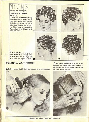 Vintage Guide To Pin Curls | Techniques from a professional