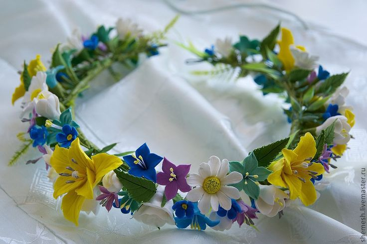 Купить Веночек для невесты - белый, венок, венок из цветов, невеста, девочка, украшение для волос, свадьба