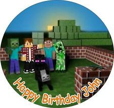 Cake Toppers Minecraft Uk : Rice, Paper and Cake toppers on Pinterest