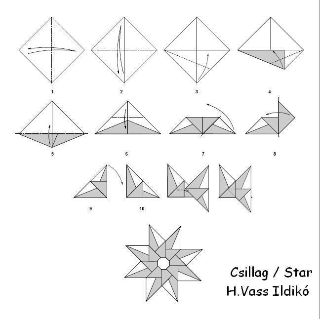 origami - pap u00edrvar u00e1zslat - k u00e9pgal u00e9ria - diagrams