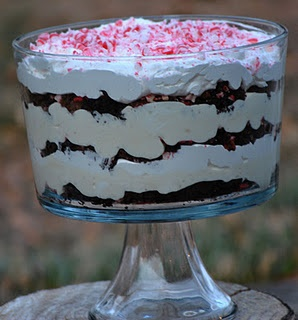 Brownie Peppermint Trifle