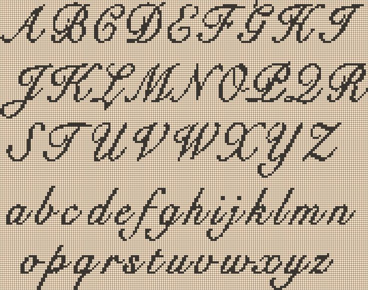 Knitting Cursive Letters : Images about counted cross stitch on pinterest