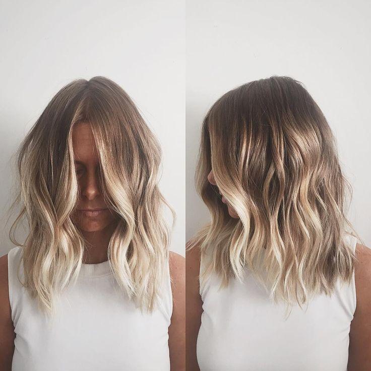 medium brown and blonde balayage