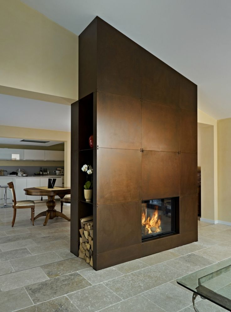 Dark Wood - 50 Modern Fireplace Ideas to Fall in Love With | https://homebnc.com/best-modern-fireplace-ideas-designs/ | #home #fireplace #ideas #decorating #decor #decoration #idea #organization #organisation #organizing #makeover #room #home #homedecor #lifestyle  #beautiful #creative #modern #design #homebnc