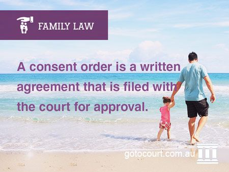 The Family Law Act applies in every state of Australia and includes provisions for parents to make an agreement or consent orders regarding the future care of their children after separation.  Read more: Consent Orders – Children | Family and Divorce Lawyers, Link: https://www.gotocourt.com.au/family-law/consent-orders-children/