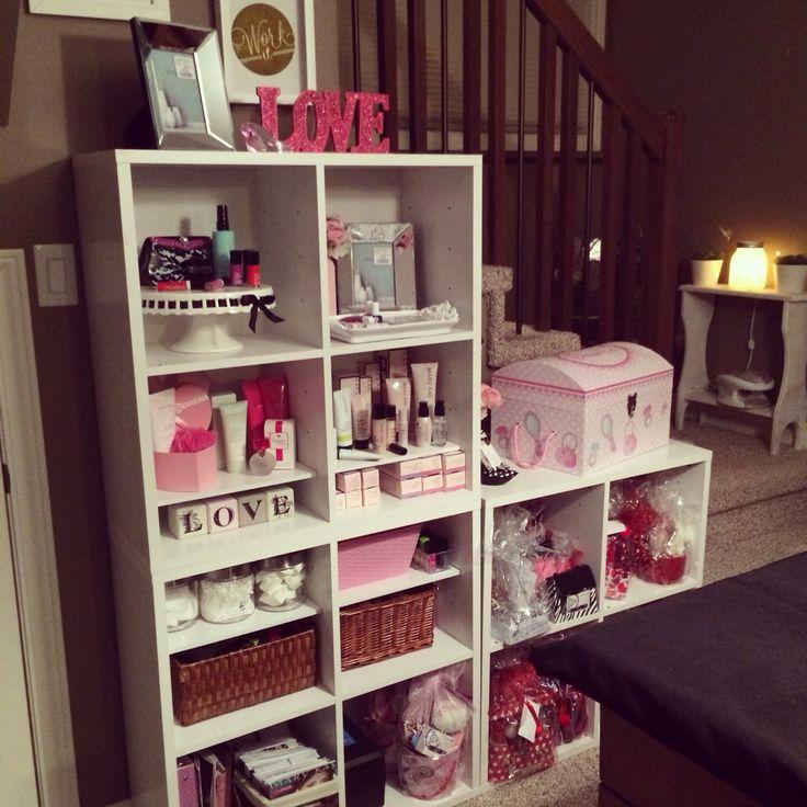 Mary Kay office, in home office, organization, cube shelving, Mary Kay studio, makeup barwww.marykay.com.mx/almareza #marykaydfsur Facebook/Ilumina tu Belleza con Mary Kay