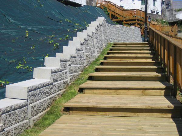 el sistema de muros de contencin allan block fue el elegido para consolidar un talud de