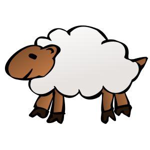 Sheep by @nicubunu, A cartoon sheep