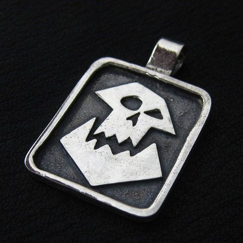 Hey, I found this really awesome Etsy listing at https://www.etsy.com/listing/170004124/silver-orc-pendant