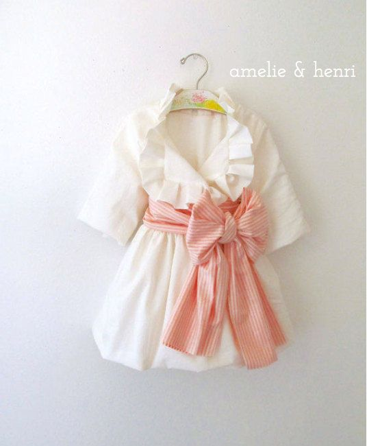 Amelie's Pleated Ruffle Jacket Pre-Order Sizes 0-3 months- girls 8. Oh! I wish I had someone I could buy this for!