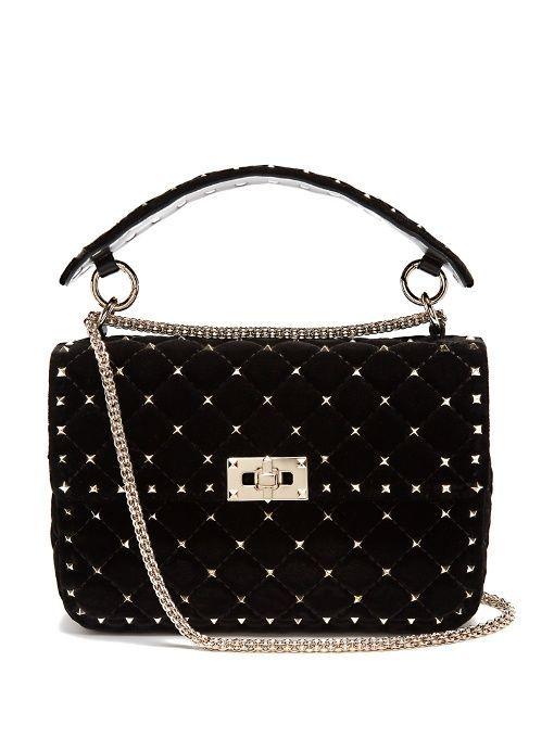 d46290f3b9d7 Valentino Rockstud Spike quilted-velvet shoulder bag - Sale! Up to 75% OFF!  Shop at Stylizio for women s and men s designer handbags