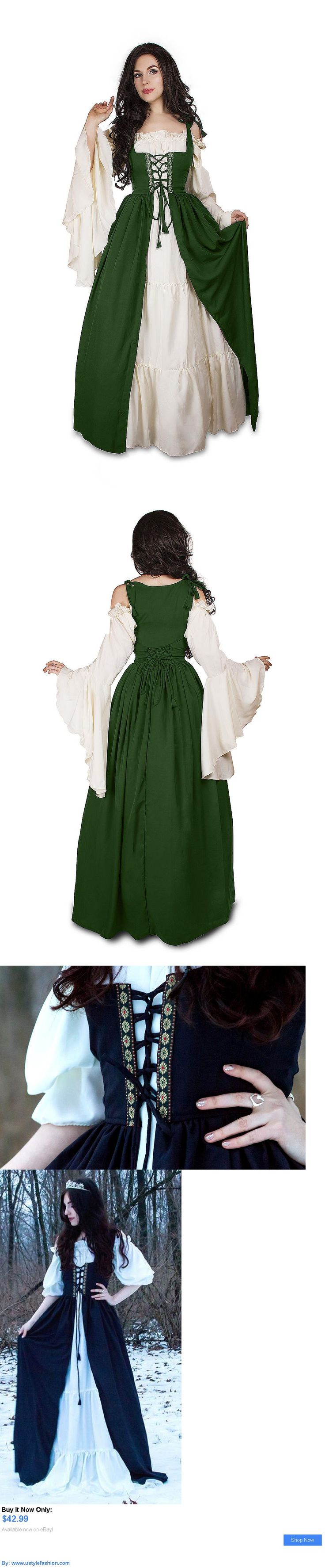 Costumes and reenactment attire: Renaissance Medieval Irish Costume Over Dress Fitted Bodice Xxs/Xs:S/M:L/Xl:2/3X BUY IT NOW ONLY: $42.99 #ustylefashionCostumesandreenactmentattire OR #ustylefashion