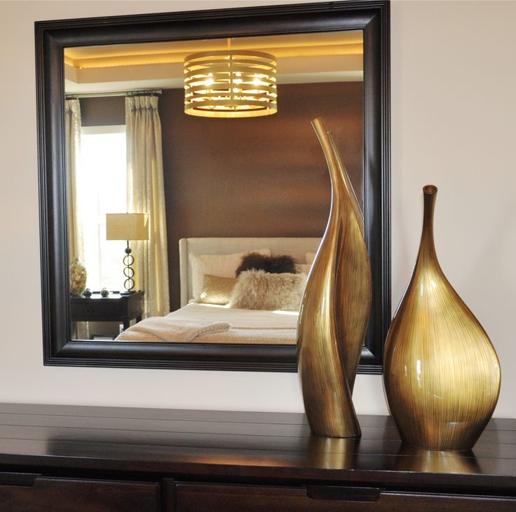 Submission from Abbey Master Builders of our Striped Gold Lacquered Contemporary Vases in one of their homes.
