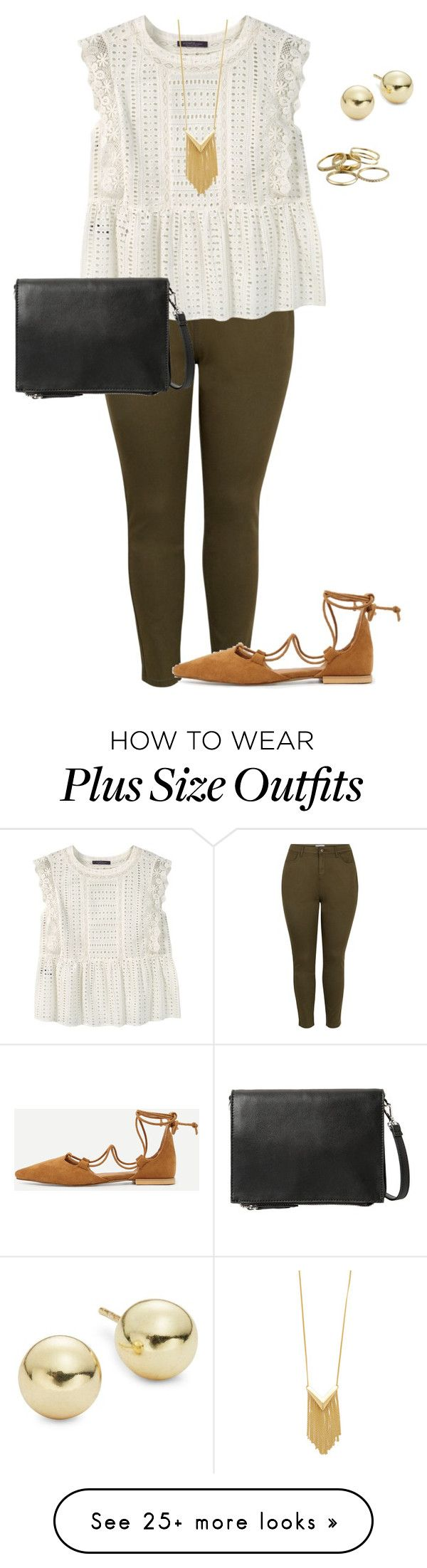 """plus size simple summer work lk"" by kristie-payne on Polyvore featuring New Look, Violeta by Mango, Lord & Taylor, Kendra Scott and Sam Edelman"